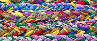 Cuerdas de rosca de la seda Imagenes de archivo