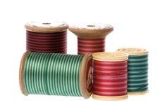 Cuerdas de rosca del bordado de la vendimia Foto de archivo libre de regalías