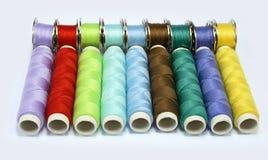 Cuerdas de rosca del color Imágenes de archivo libres de regalías