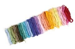 Cuerdas de rosca del color Fotos de archivo