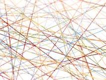 Cuerdas de rosca del extracto Fotografía de archivo