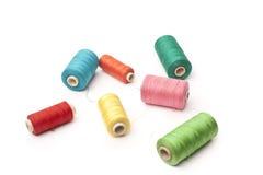 Cuerdas de rosca en blanco Imagen de archivo