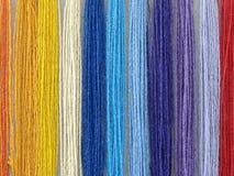 Cuerdas de rosca multicoloras Imagen de archivo