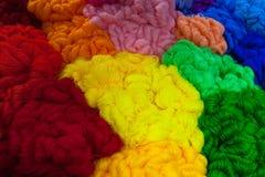 Cuerdas de rosca multicoloras Imagen de archivo libre de regalías