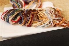 Cuerdas de rosca para el bordado Foto de archivo libre de regalías