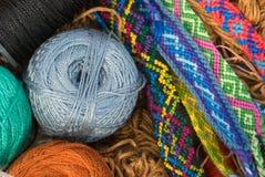 Cuerdas de rosca y pulseras Fotografía de archivo libre de regalías