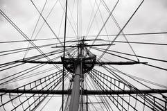 Cuerdas de una nave Imagen de archivo libre de regalías