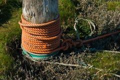 Cuerdas del amarre, puerto de Tetenbuell Imagen de archivo