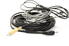 Cuerdas del audio y de teléfono Imagen de archivo libre de regalías