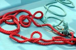 Cuerdas del canotaje Fotografía de archivo libre de regalías