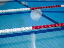 Cuerdas del carril de natación Fotos de archivo