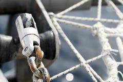 Cuerdas del yate Fotografía de archivo libre de regalías