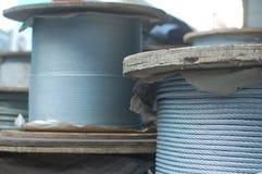 Cuerdas en bobinas Foto de archivo libre de regalías