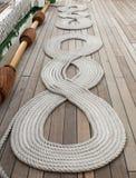 Cuerdas en cubierta Foto de archivo