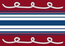Cuerdas en fondo rojo Imagen de archivo