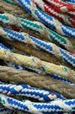 Cuerdas en la nave Imágenes de archivo libres de regalías