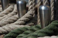 Cuerdas en un tallship Fotografía de archivo libre de regalías