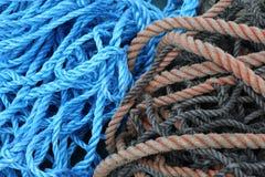 Cuerdas náuticas del mar Imagen de archivo