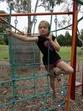 Cuerdas que suben del niño. Fotos de archivo libres de regalías
