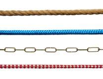 Cuerdas y encadenamientos fotografía de archivo libre de regalías