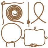 Cuerdas y nudos Foto de archivo