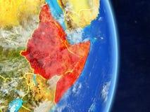 Cuerno de África en la tierra del planeta ilustración del vector
