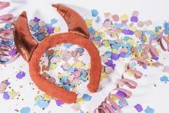 Cuernos del diablo Foto de archivo libre de regalías