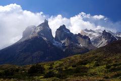 Cuernos Del Paine. Stunning Cuernos del Paine in southern Chile stock images