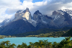 Cuernos Del Paine. Stunning Cuernos del Paine in southern Chile Royalty Free Stock Photography