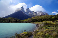 Cuernos Del Paine. Stunning Cuernos del Paine in southern Chile royalty free stock photo
