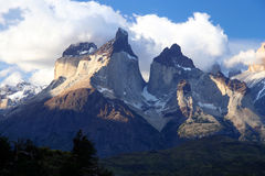 Cuernos Del Paine. Stunning Cuernos del Paine in Patagonia in southern Chile stock image