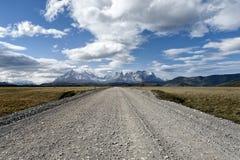 Cuernos del Paine en el parque nacional de Torres del Paine Imagen de archivo libre de regalías