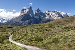 Cuernos del Paine en el parque nacional de Torres del Paine Fotografía de archivo libre de regalías