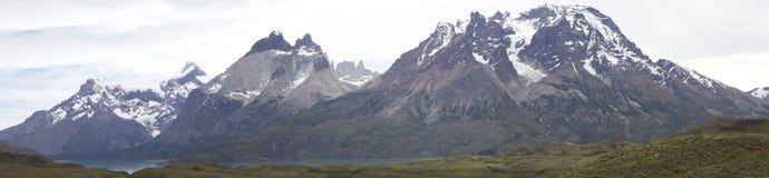 Cuernos del Paine nel parco nazionale di Torres del Paine, regione del Magallanes, Cile del sud Immagine Stock