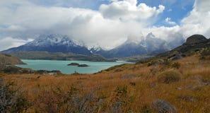 Cuernos del Paine, Patagonia, o Chile Fotos de Stock