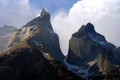Cuernos Del Paine Peaks. Stunning Cuernos del Paine in southern Chile Stock Photography