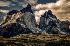 Cuernos del Paine. Torres del Paine in Chile stock photos