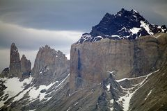 Cuernos del Paine in Torres del Paine National Park, Magallanes Region, southern Chile stock photography