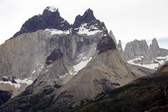 Cuernos del Paine in Torres del Paine National Park, Magallanes Region, southern Chile stock image