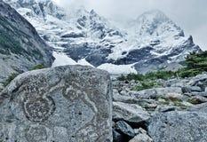 Cuernos del Paine. W-Trail, Patagonia, Chilem Torres Del Paine, Cuernos del Paine royalty free stock photo