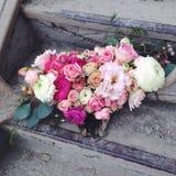cuernos del reno del arreglo floral Fotos de archivo