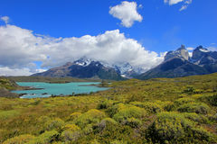 Cuernos Paine Grande, Torres Del Paine National Park, Patagonia, Chile. Southamerica royalty free stock photos