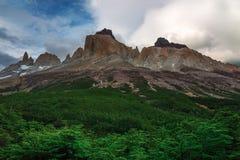 Cuernow del Paine in Patagonia Stock Image