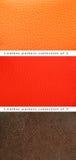 Cuero anaranjado, rojo y marrón del modelo Fotografía de archivo libre de regalías