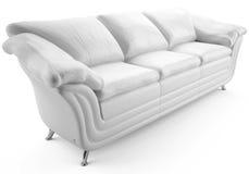 Cuero blanco sofa2 Fotos de archivo libres de regalías