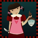 Cuero cabelludo de Sarah stock de ilustración