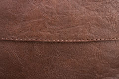 Cuero de Brown con el detalle y la textura Imagen de archivo libre de regalías