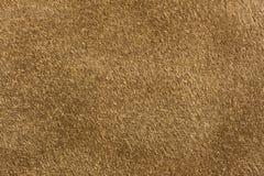 Cuero de gamuza de Brown Foto de archivo libre de regalías