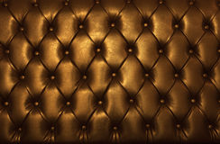 Cuero de oro de los muebles de lujo Imagenes de archivo