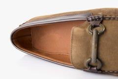 Cuero de zapatos marrón masculino Foto de archivo